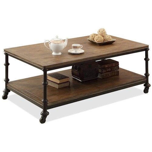 Riverside Furniture Camden Town Rectangular Cocktail Table With Casters