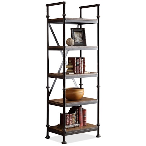 Riverside Furniture Camden Town Open Etagere with 5 Shelves