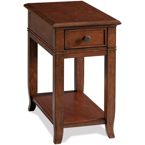 Riverside Furniture Campbell 1 Drawer Chairside Table