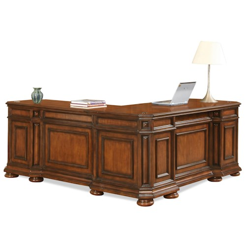 Riverside Furniture Cantata Traditional L Desk & Return
