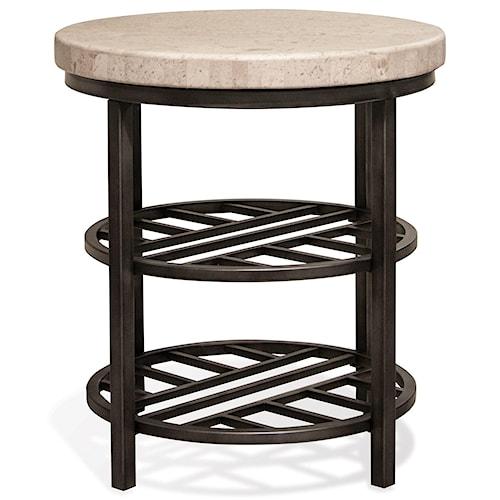 Riverside Furniture Capri Round End Table w/ Shelves