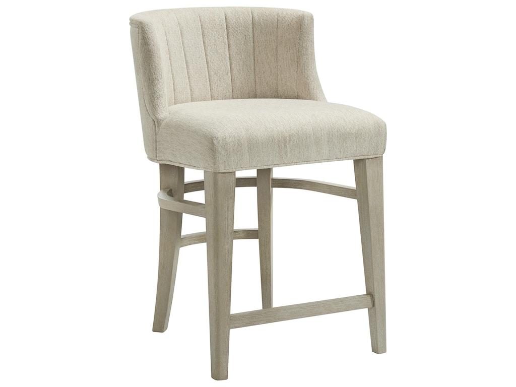 Riverside Furniture CascadeUpholstered Curved Back Counter Stool