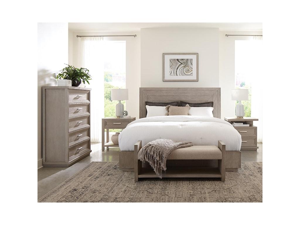 Riverside Furniture CascadeUpholstered Bed Bench
