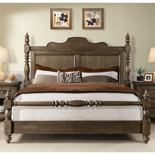 Riverside Furniture Cassidy Traditional California King Poster Bed