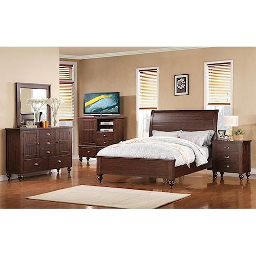 Riverside Furniture Castlewood Queen Bedroom Group 1