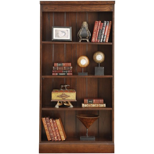 Riverside Furniture Castlewood Bookcase with 2 Adjustable Shelves and 1 Fixed Shelf