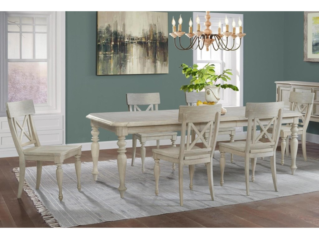 Riverside Furniture Charleston Retreat7-Piece Table and Chair Set