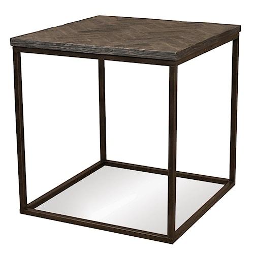 Riverside Furniture Chevron Chevron Top Square Side Table