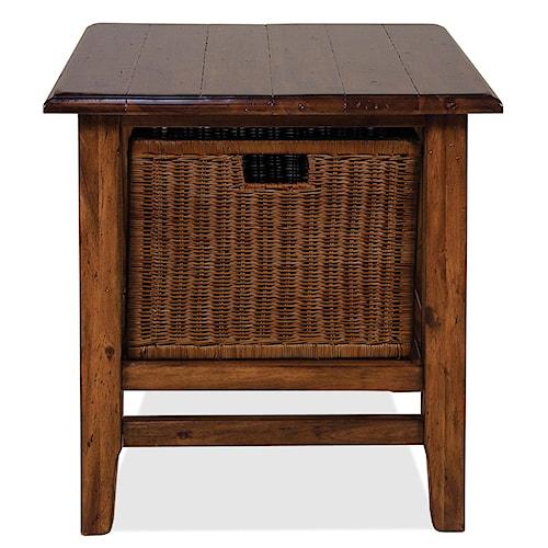 Riverside Furniture Claremont  Rectangular End Table with Storage Basket