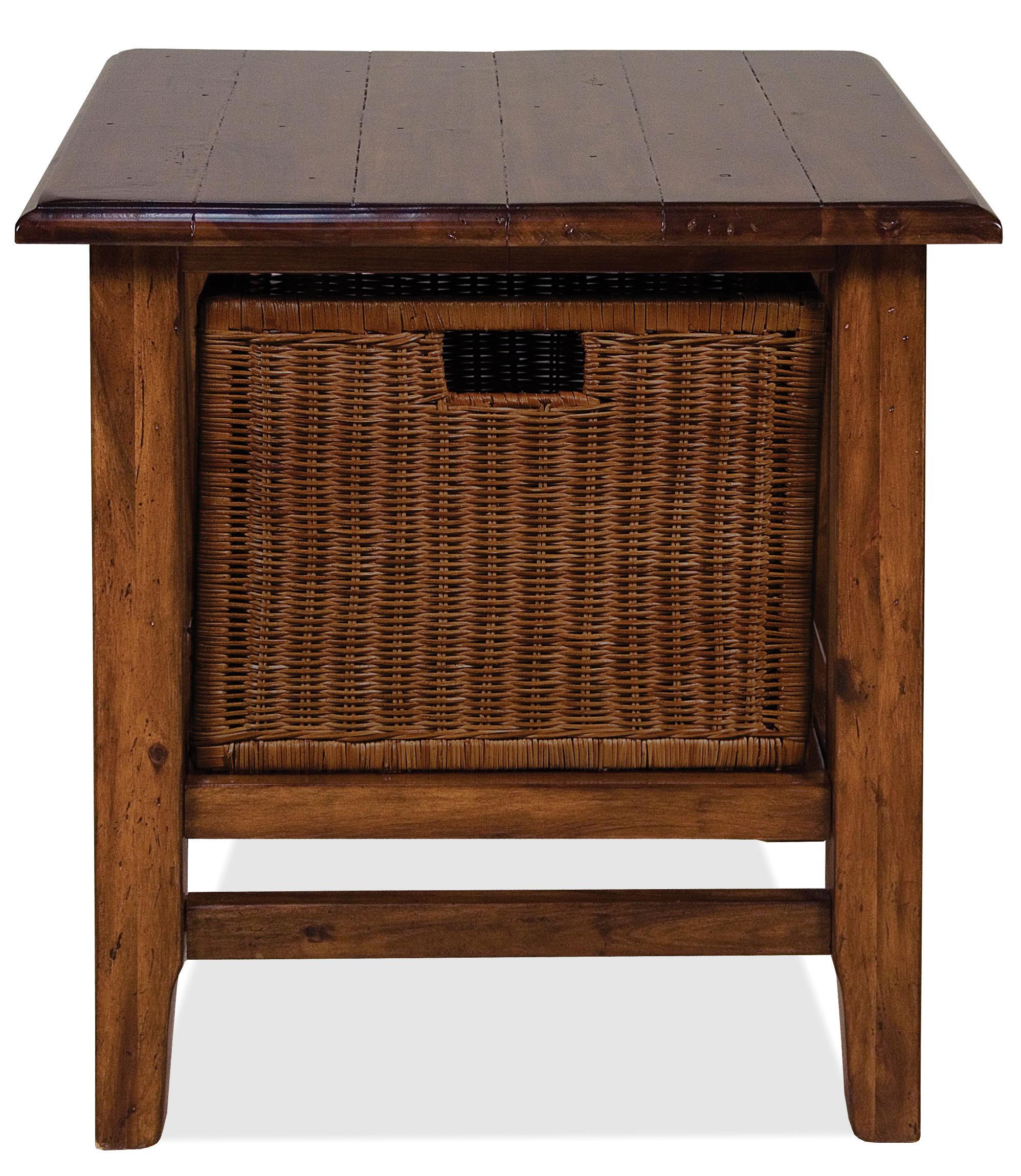 Lovely Riverside Furniture Claremont Rectangular End Table With Storage Basket   Hudsonu0027s  Furniture   End Table
