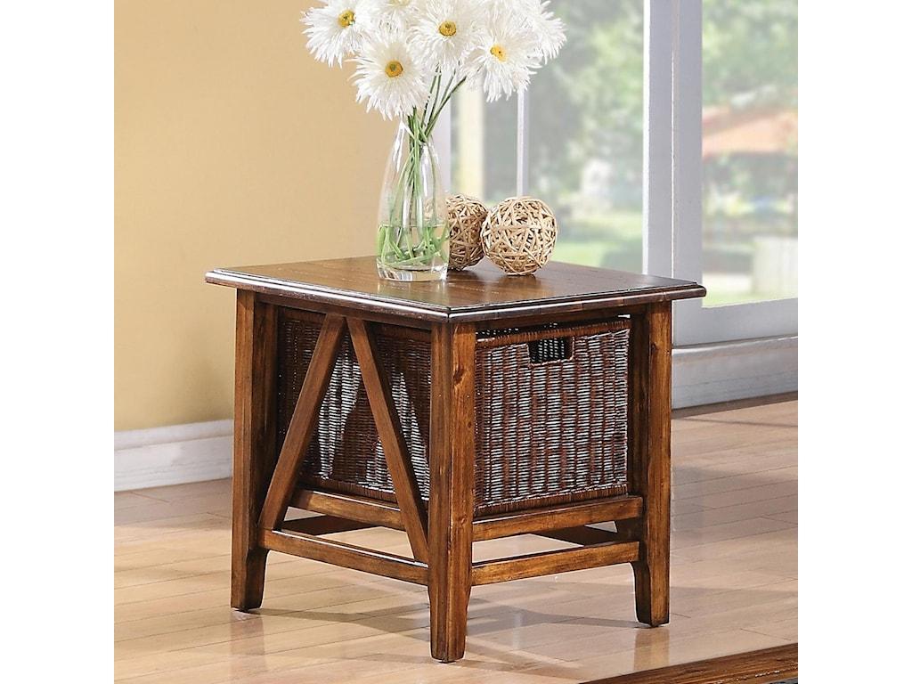Riverside Furniture Claremont Rectangular End Table