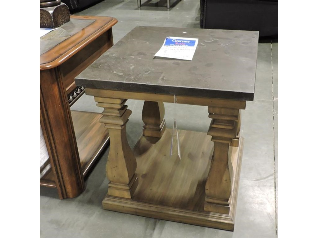Riverside Furniture    End Table w/ Blue stone Top