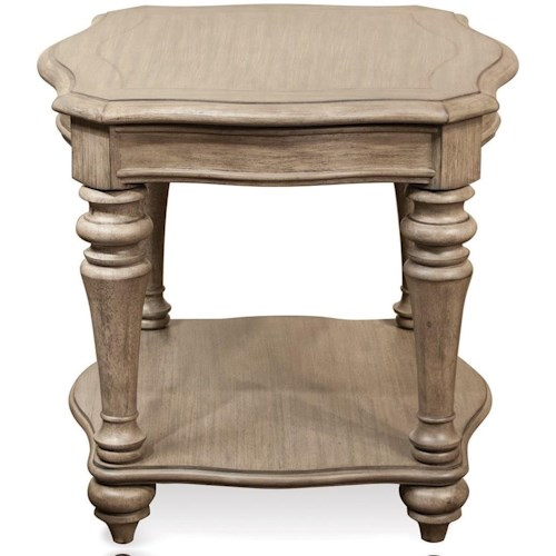 Riverside Furniture Corinne End Table with Turned Legs
