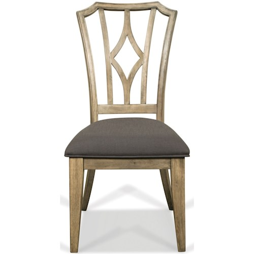 Riverside Furniture Corinne Upholstered Diamond Back Side Chair