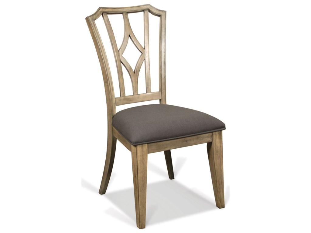 Riverside Furniture CorinneUpholstered Diamond Back Side Chair