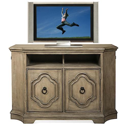 Riverside Furniture Corinne Media Chest with Hidden End Doors