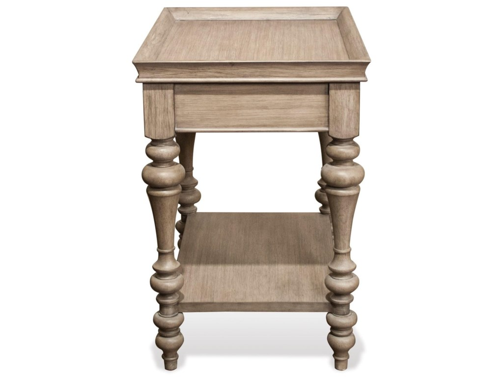 Riverside Furniture CorinneLeg Nightstand-Wood Top