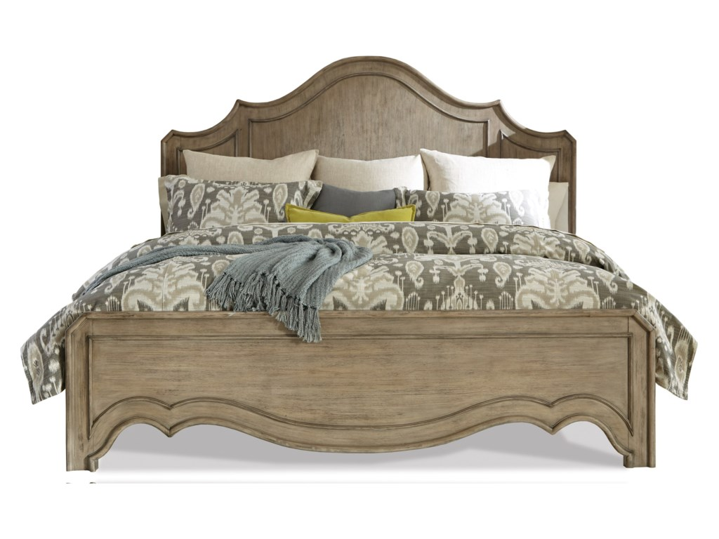 Riverside Furniture CorinneQueen Curved Panel Bed