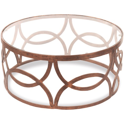 Riverside Furniture Cosmo Coffee Table with Cast Aluminum Base