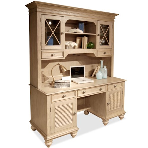 Riverside Furniture Coventry Shutter Door Credenza & Glass Door Hutch