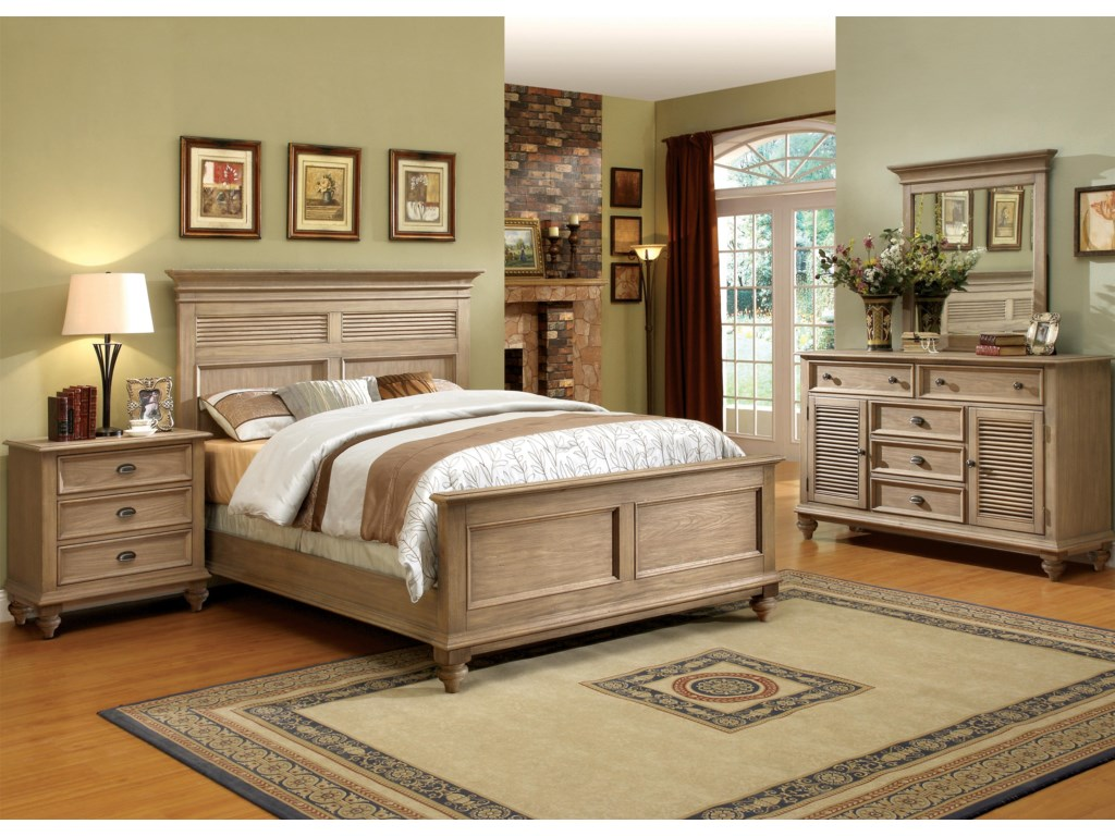 Shown with Panel Bed, Dresser & Mirror