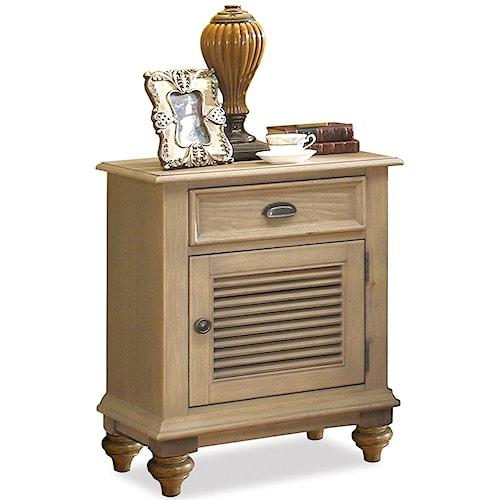 Riverside Furniture Coventry Shutter Door Nightstand with 1 Drawer & 2 Shelves
