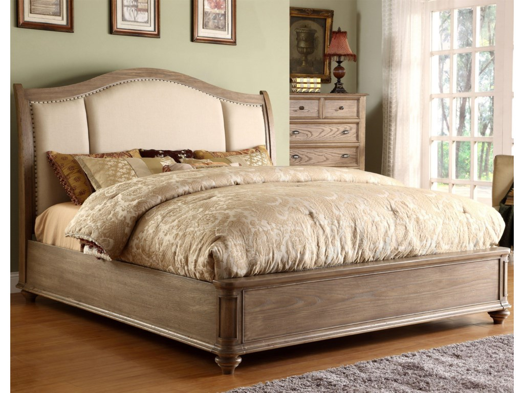 Riverside Furniture CoventryFull/Queen Upholstered Sleigh Headboard Bed