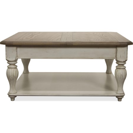 Lift-Top Square Coffee Table