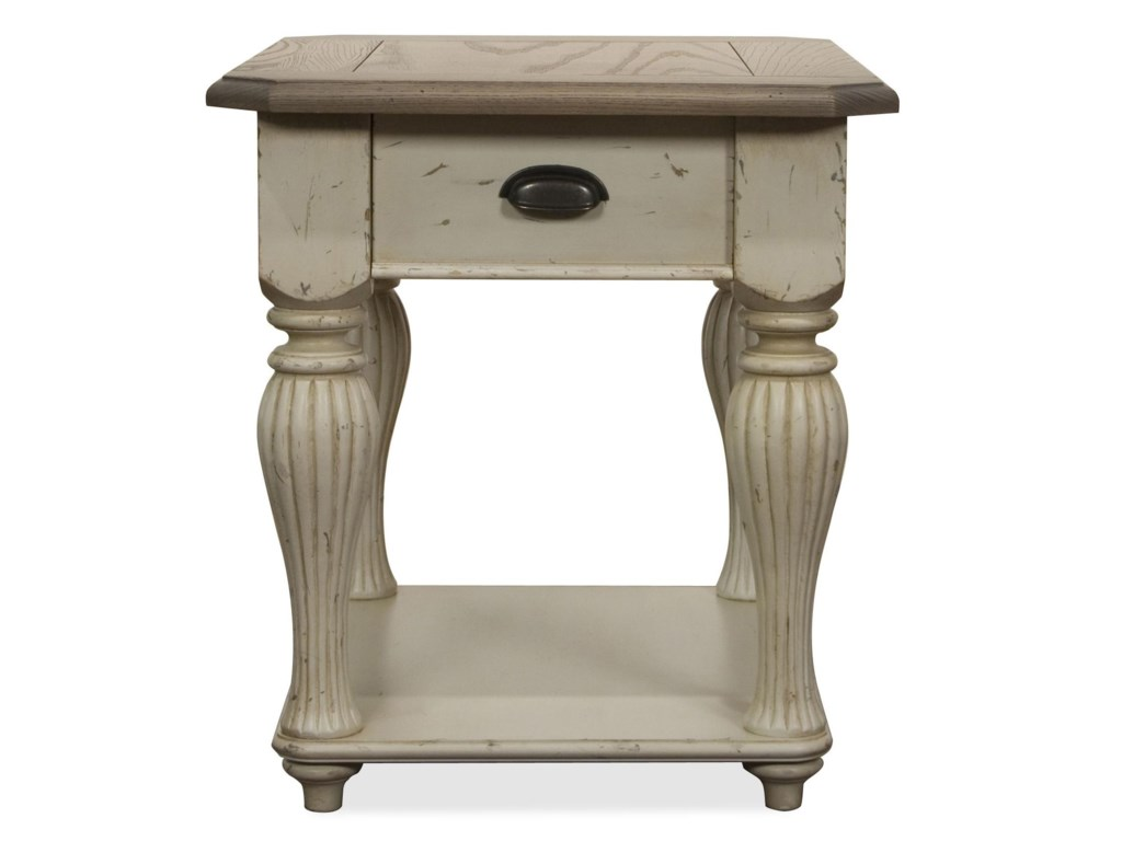 Riverside Furniture Coventry Two ToneRectangular End Table