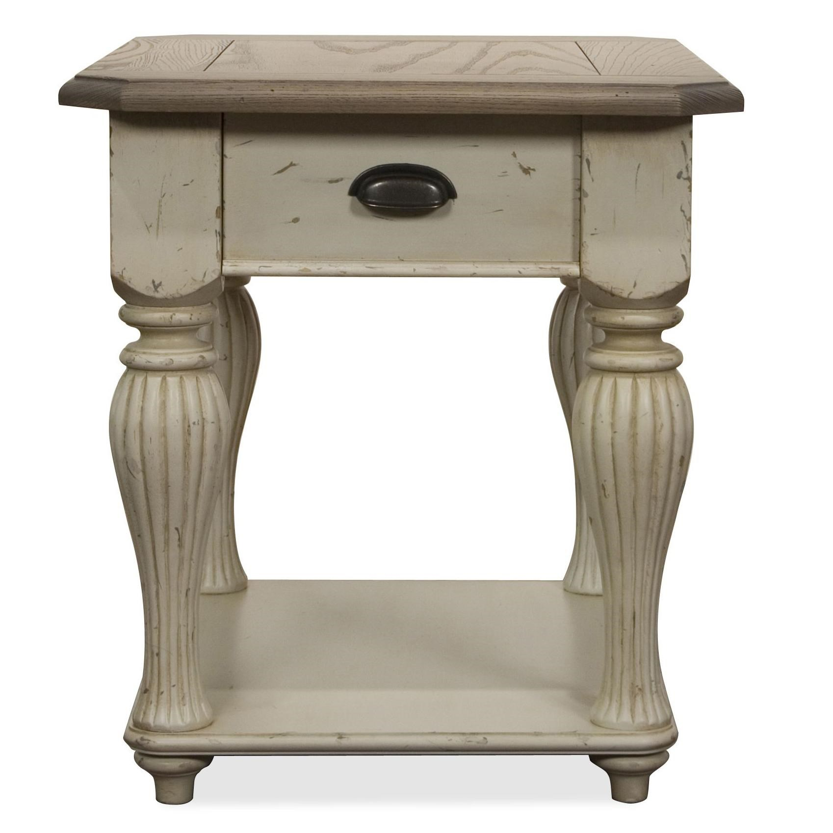 Riverside Furniture Coventry Two ToneRectangular End Table ...