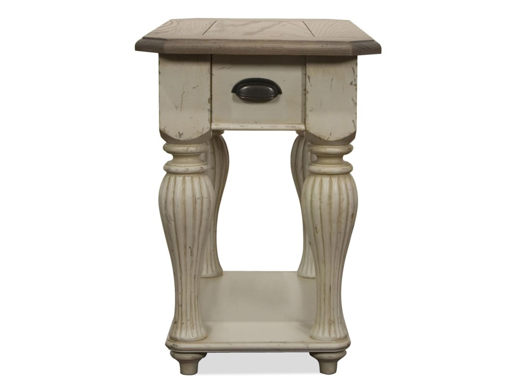 Riverside Furniture Coventry Two ToneChairside Table