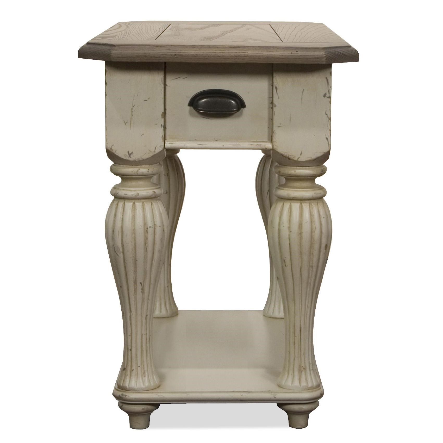 Coventry Two Tone Chairside Table With Fixed Bottom Shelf By Riverside  Furniture. Coventry Two Tone Collection