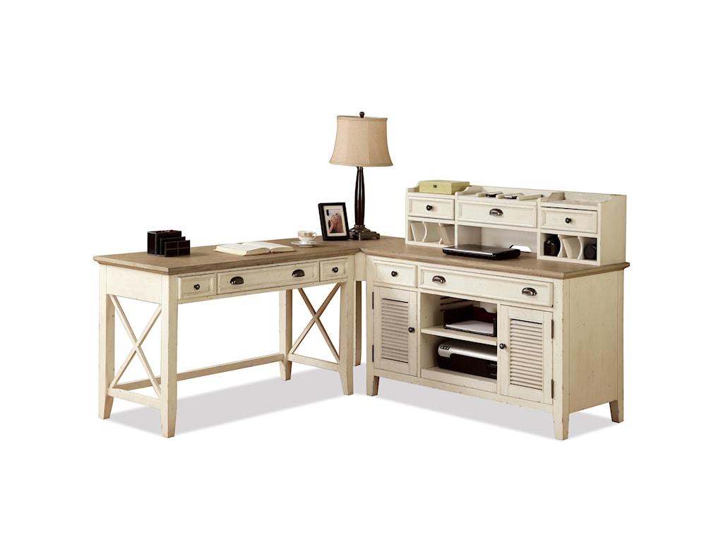 Riverside Furniture Coventry Two ToneCredenza & Small Hutch