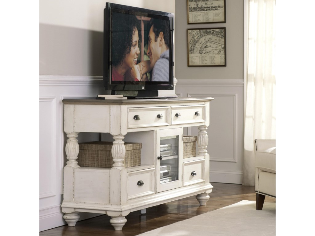 Riverside Furniture Coventry Two ToneTall TV Console
