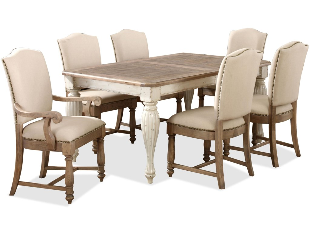 Shown with Upholstered Arm & Side Chairs