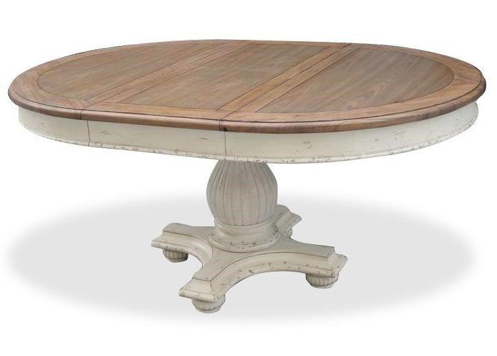 Riverside Furniture Coventry Two Tone Round Pedestal Dining Table - Two tone round pedestal dining table