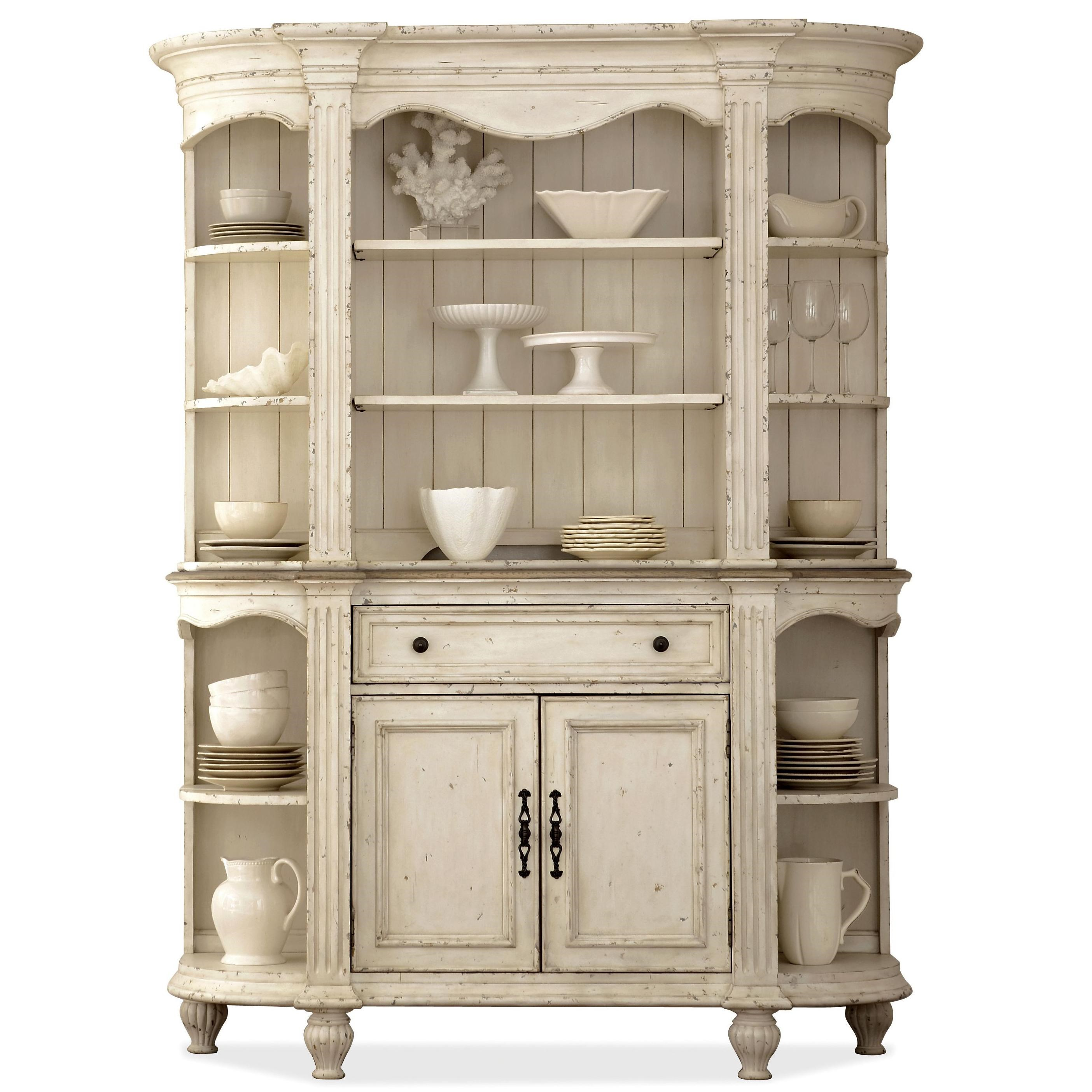 Riverside Furniture Coventry Two Tone 2 Door Server & Hutch with ...