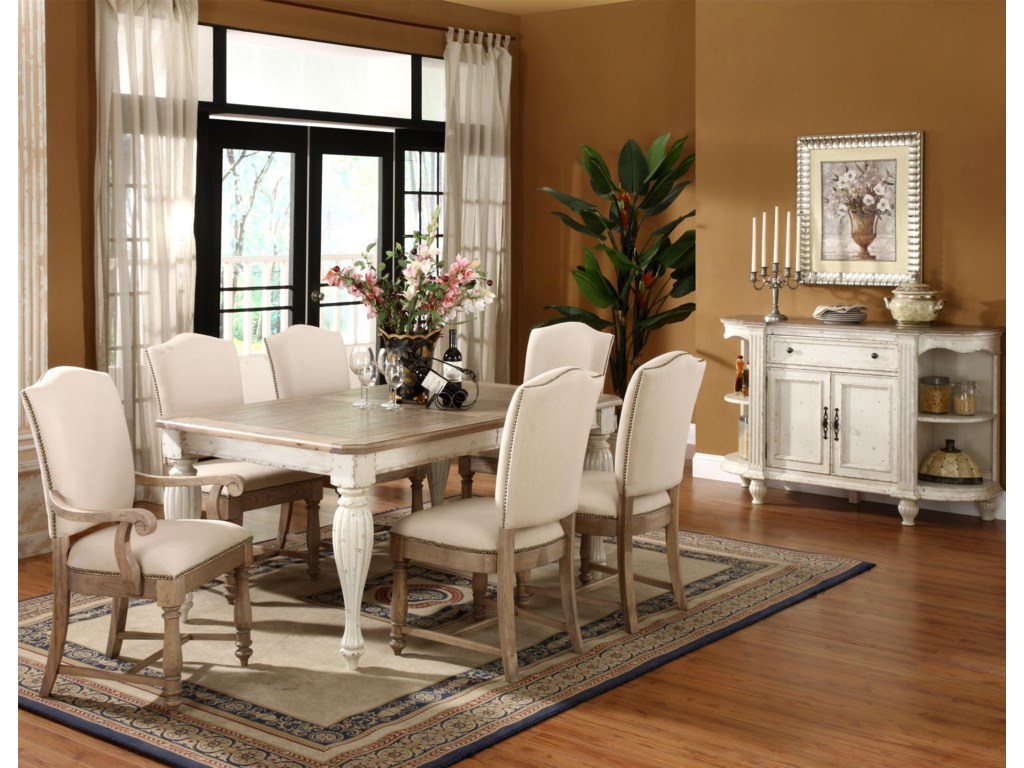 Shown with Dining Table, Side Chair & Server