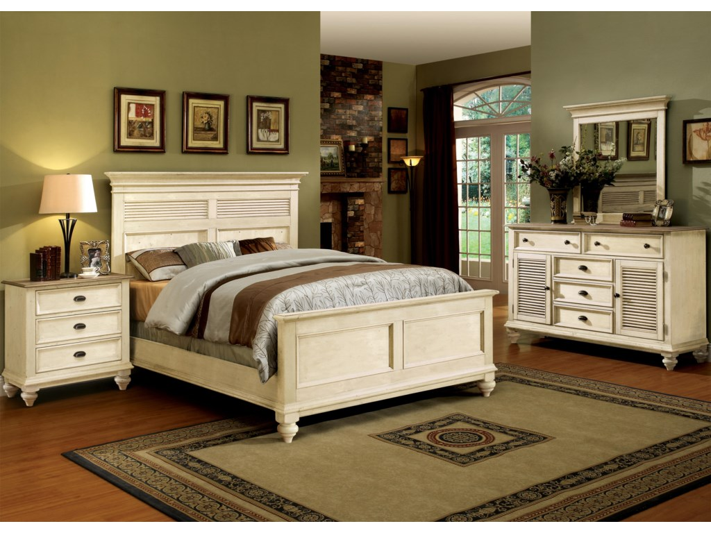 Shown with Night Stand, Platform Bed & Mirror