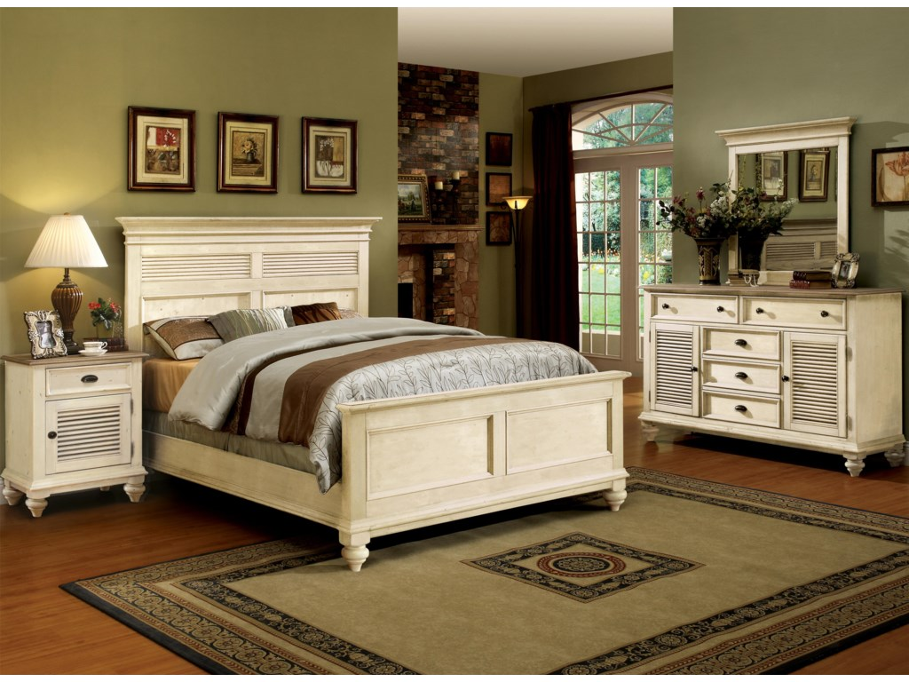 Shown with Night Stand, Panel Bed & Dresser