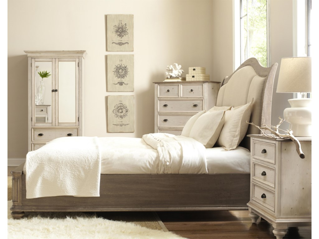 Shown with Armoire, Upholstered Bed & Night Stand