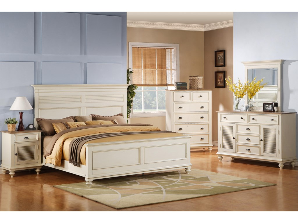 Shown with Night Stand, Panel Bed, Dresser & Mirror