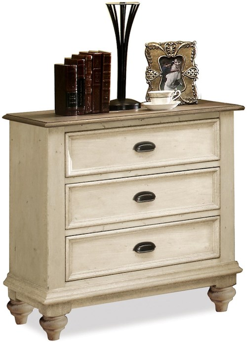 Riverside Furniture Coventry Two Tone 3 Drawer Night Stand