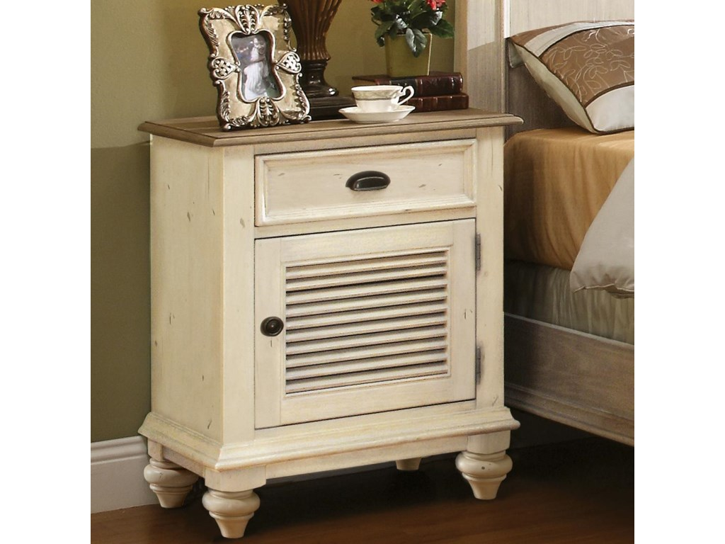 Riverside Furniture Coventry Two ToneShutter Door Nightstand