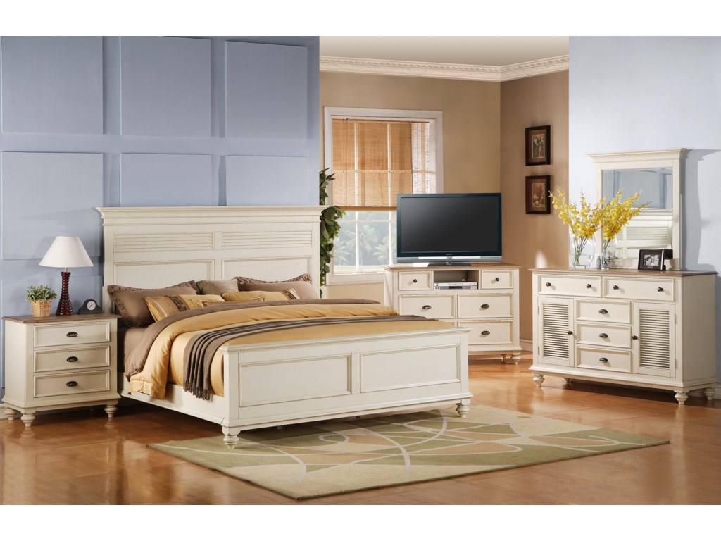 Riverside Furniture Coventry Two ToneFull/Queen Headboard & Footboard Bed