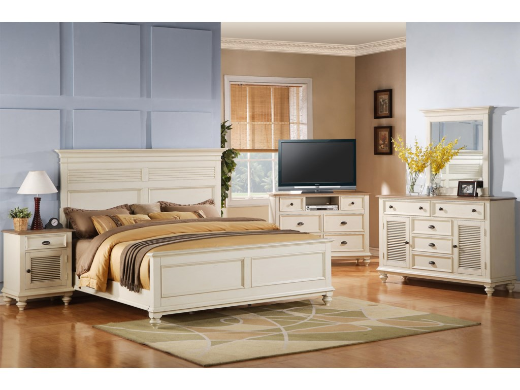 Riverside Furniture Coventry Two ToneKing Headboard & Footboard Bed