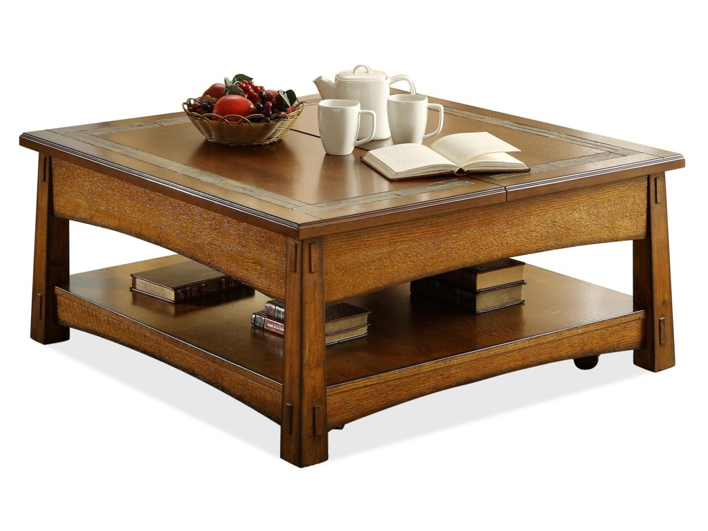 Riverside Furniture Craftsman HomeSquare Lift-Top Cocktail Table