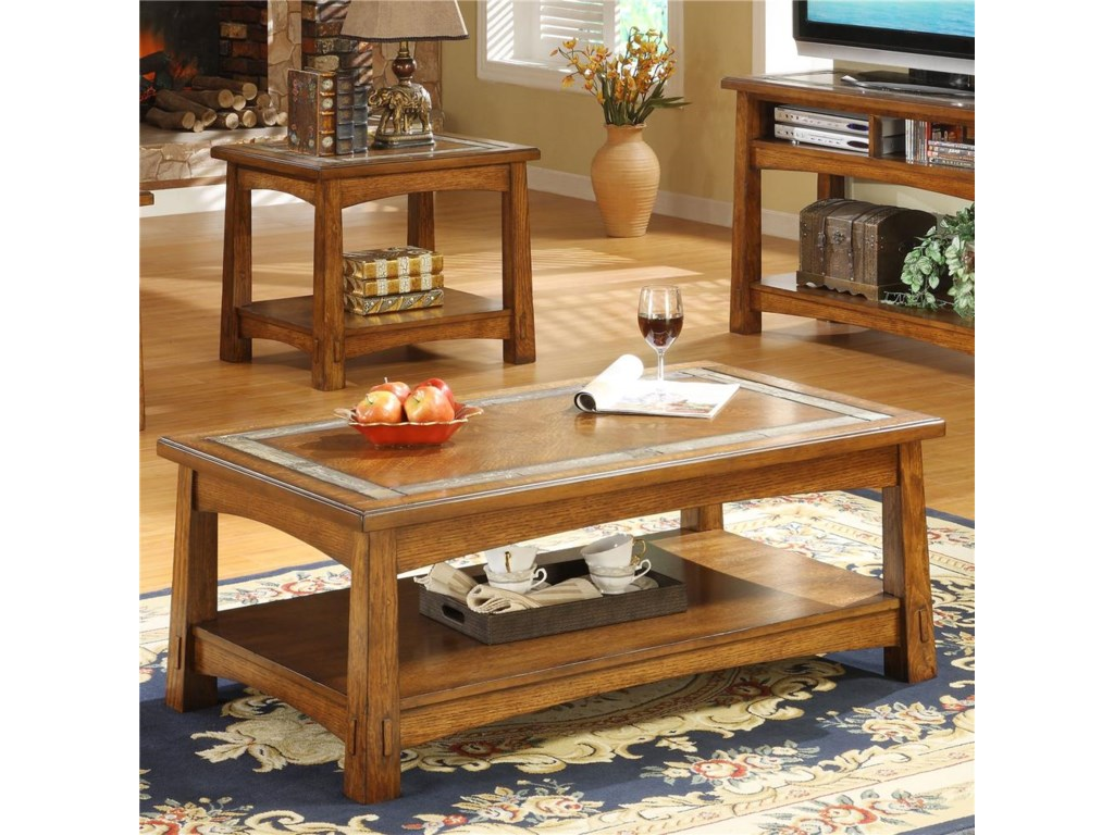 Riverside Furniture Craftsman HomeRectangular Coffee Table