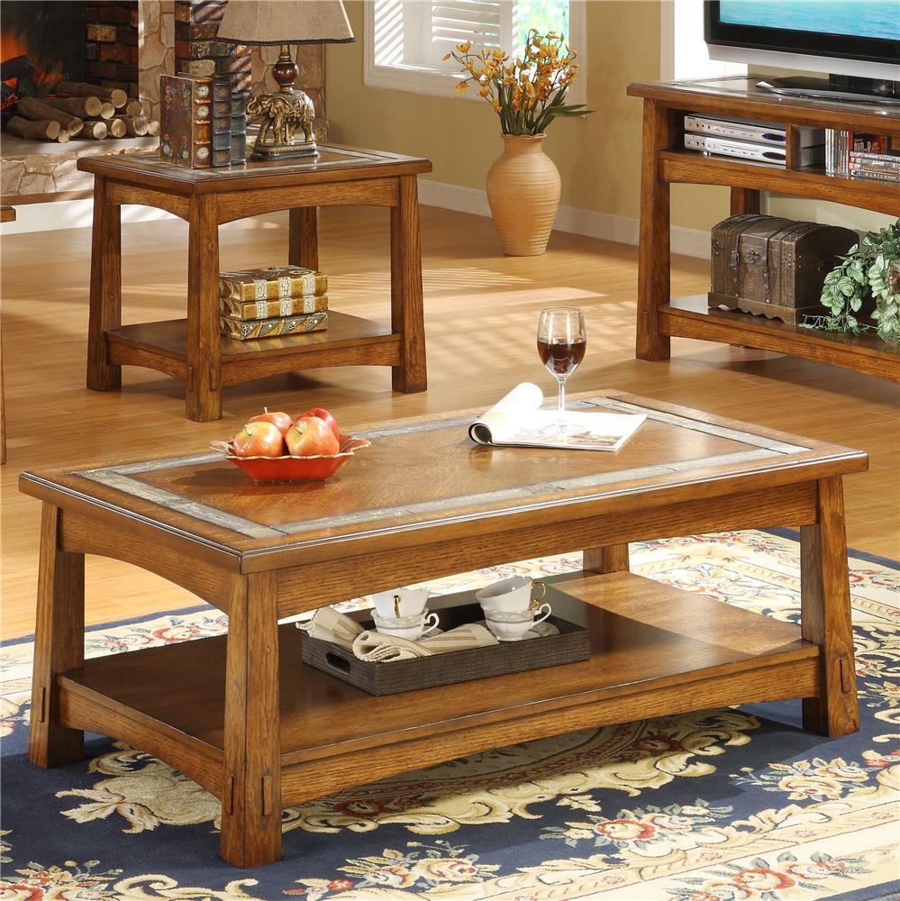 Riverside Furniture Craftsman HomeRectangular Coffee Table; Riverside  Furniture Craftsman HomeRectangular Coffee Table