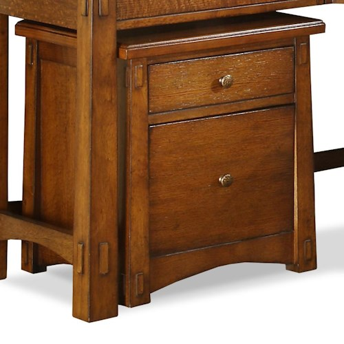 Riverside Furniture Craftsman Home 2 Drawer Mobile File Cabinet with Casters